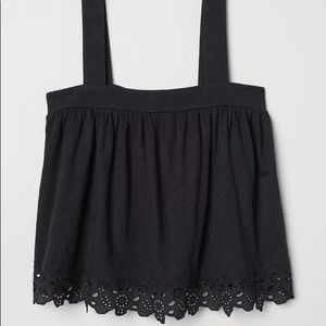 Black Lacey Tank Top